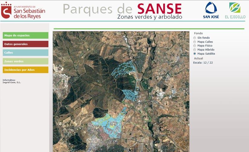 San Sebastián de los Reyes muestra los datos de su patrimonio verde urbano en tiempo real en la web parquesdesanse.org