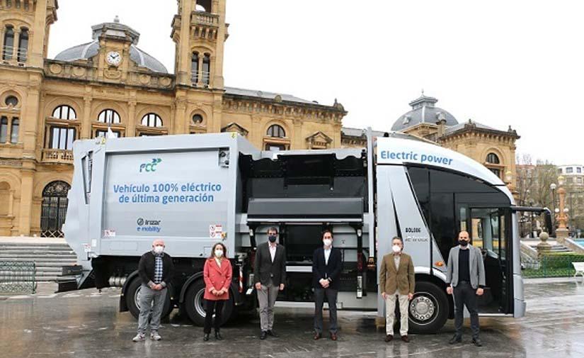 San Sebastián incorporará camiones eléctricos para la recogida de basura