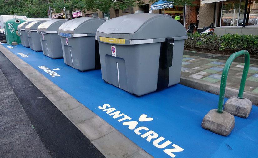 Santa Cruz de Tenerife apuesta por la accesibilidad con plataformas para contenedores
