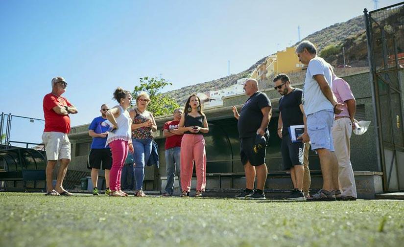 Santa Cruz de Tenerife ejecutará importantes mejoras en los campos de fútbol de María Jiménez y Valleseco