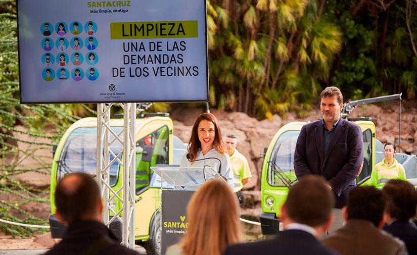 Santa Cruz de Tenerife presenta su nuevo servicio de limpieza y recogida de residuos