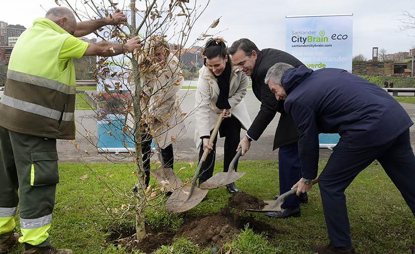 Santander presenta Santander City Brain eco, un espacio donde construir una ciudad sostenible junto a sus vecinos