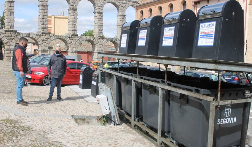 Segovia concluye la instalación de los nuevos contenedores de residuos de carga lateral
