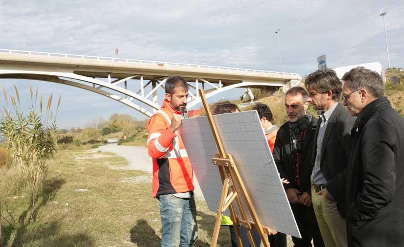 Segunda fase de mejora paisajística del camino fluvial del Llobregat en Molins de Rei