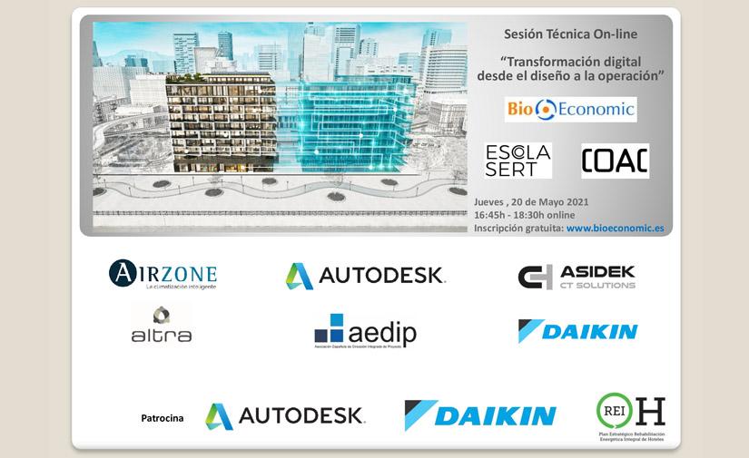 """Sesión técnica online """"Transformación digital desde el diseño a la operación"""""""