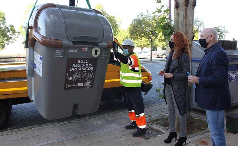 Sevilla implanta el sistema de recogida de biorresiduos en siete zonas del distrito Macarena tras una inversión de 400.000 euros