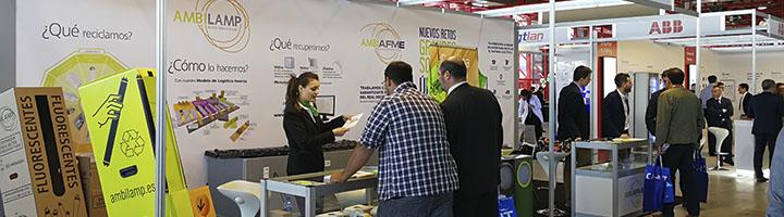 AMBILAMP y AMBIAFME vuelven a EFICAM para exponer las soluciones sobre el reciclaje de la iluminación y el material eléctrico