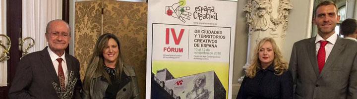 Málaga acoge del 10 al 12 de Noviembre el IV Fórum de Ciudades y Territorios Creativos de España