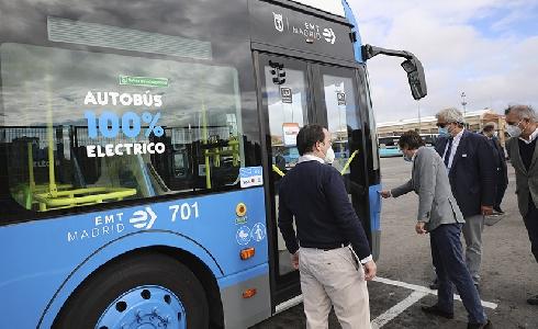 15 nuevos autobuses eléctricos para la flota de la EMT de Madrid