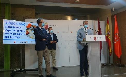 20 millones permitirán renovar lo equipamientos de todos los municipios de Murcia