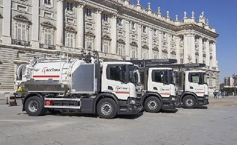 ACCIONA incorpora camiones de gas natural para el servicio de saneamiento en la Comunidad de Madrid
