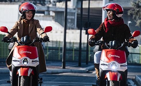 ACCIONA reactiva su servicio motosharing