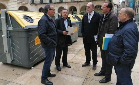 Alicante incorpora 200 contenedores para recogida de envases y aumenta la frecuencia de recogida