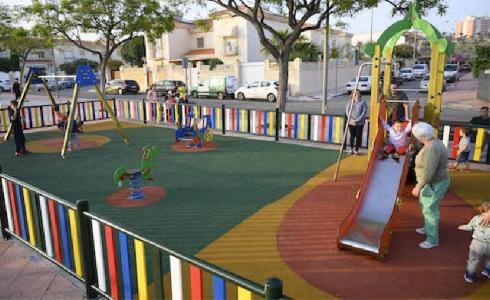 Almería pone en marcha la construcción de dos nuevos parques infantiles en La Cañada y El Alquián