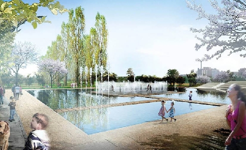 Amplias zonas verdes y singulares espacios lúdicos dan forma a la segunda fase del Parque de las Familias