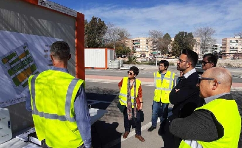 Avanzan las obras de Plaza de la Ciudad de la Justicia de Alicante