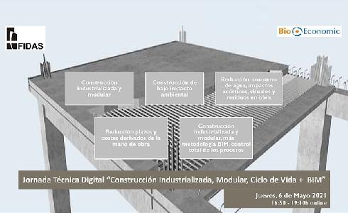 """BioEconomic organiza una nueva Jornada Técnica Online sobre """"Construcción Industrializada, Modular, Ciclo de Vida + BIM"""""""