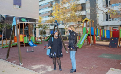 Castellón remodela más de 600 m² de la zona de juegos infantiles de la avenida Hermanos Bou