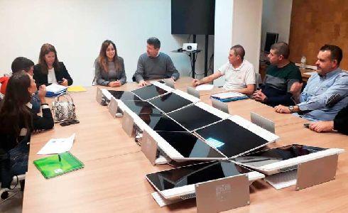 Comercio y Limpieza Viaria de Murcia informan a las plazas de abastos sobre la instalación del quinto contenedor de recogida de orgánico
