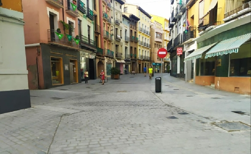 Concluyen las obras de peatonalización del Coso Bajo en Huesca