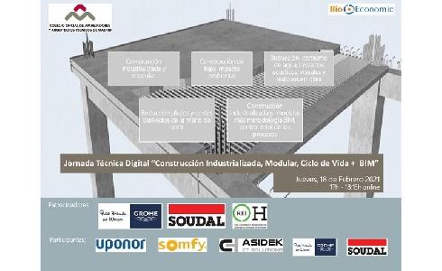Construcción Industrializada, Modular, Ciclo de Vida + BIM