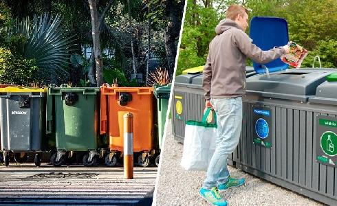 Contenedores de reciclaje vs Isla de reciclaje