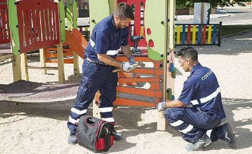 La UTE CONTENUR-VALORIZA consigue el mayor contrato de mantenimiento de áreas infantiles y deportivas a nivel europeo