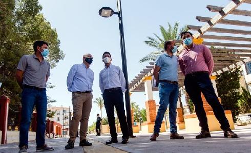 Diputación de Almería impulsa la sostenibilidad de Huércal-Overa con la renovación del alumbrado público