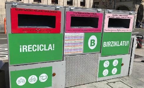 El ayuntamiento de Bilbao reactiva los servicios de reciclaje suspendidos por la alerta sanitaria