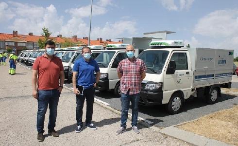 El Ayuntamiento de Segovia incorpora 15 nuevos vehículos eléctricos a la flota del servicio de limpieza