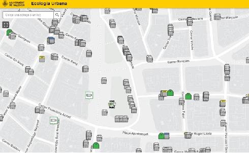 El Ayuntamiento de València integra los ecoparques móviles en el geoportal Smart City