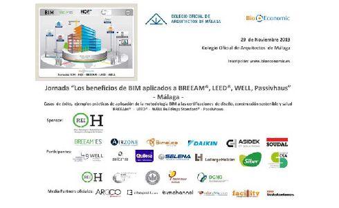 """El Colegio Oficial de Arquitectos de Málaga acoge una nueva Jornada """"Los beneficios de BIM aplicados a BREEAM® - LEED® - WELL - Passivhaus"""""""