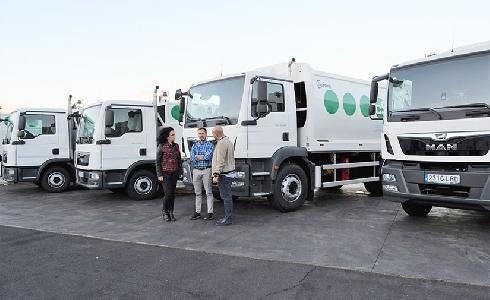 El Consorcio de Servicios de La Palma renueva su flota con cinco nuevos camiones recolectores de residuos
