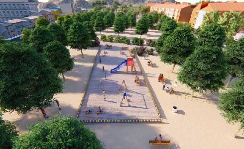 El Palmar recuperará para finales de marzo el Parque de La Paz con nuevos espacios verdes y una moderna zona de juegos infantiles