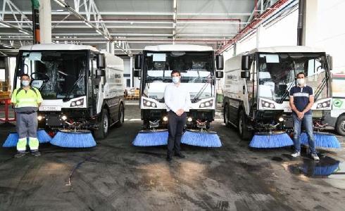 ESMASA nuevos equipos para mejorar el servicio de limpieza viaria de Alcorcón