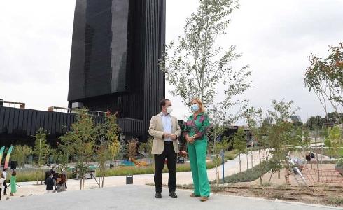 Finalizan las obras del parque Caleido, una nueva zona verde en pleno corazón de Madrid