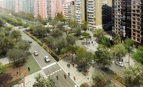 Hacia un corredor verde: continúa la transformación de la Meridiana de Barcelona