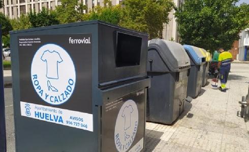 Huelva incrementa la recogida selectiva de envases, vidrio y papel en la capital en el primer semestre