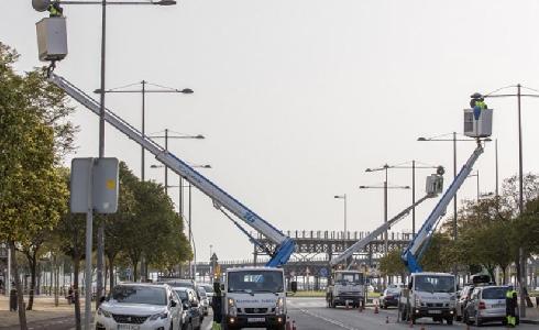Huelva moderniza el alumbrado de la avenida de La Ría con tecnología led