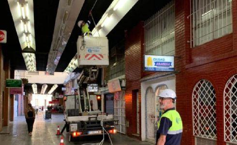 Huelva moderniza el alumbrado público del Pasaje Manuel Machado, el Parque de La Esperanza y la calle Marchena Colombo