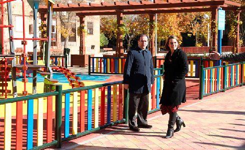 Inaugurado el nuevo parque sobre la cubierta del aparcamiento de la calle Antonio Machado de Madrid
