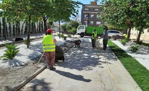 Jaén automatiza 4.500 nuevos metros cuadrados de riego inteligente en siete zonas verdes de la capital