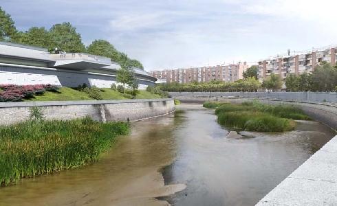 La cubrición de la M-30 a su paso por el antiguo Calderón permitirá culminar Madrid Río