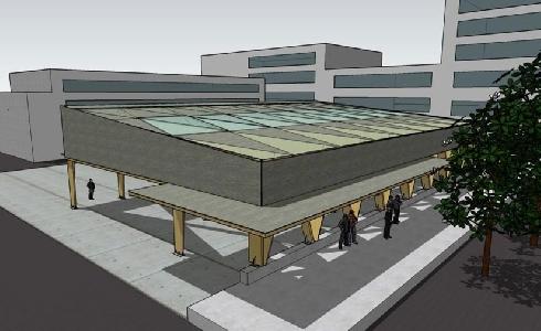La Diputación de A Coruña financia la construcción de una cubierta con iluminación solar fotovoltaica para un parque infantil