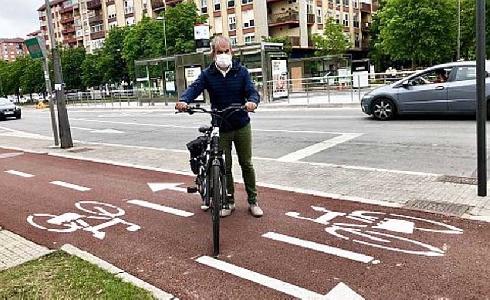 La implantación del BEI permite crear o reformar 1.700 metros de bidegorris, mejorando la red ciclista de Vitoria-Gasteiz