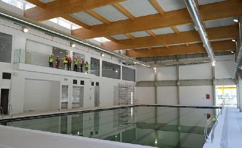 Las obras de la piscina cubierta del Centro Deportivo Casa de Campo de Madrid, apunto de finalizar