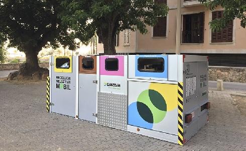 Las plataformas de recogida selectiva del centro histórico de Palma quedarán instaladas de forma permanente