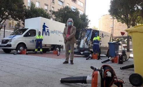 Logroño incorpora 28 máquinas eléctricas para el servicio de recogida de residuos y limpieza viaria de la ciudad