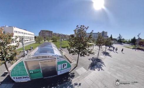 Los seis aparcamientos para bicicletas de la red pública 'Nbici' de Pamplona abren sus puertas en la Semana de la Movilidad