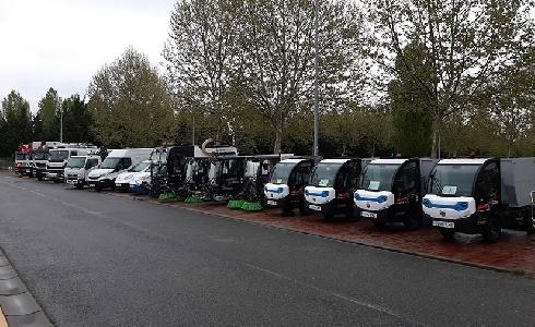 Miranda de Ebro estrena nueva flota de vehículos para el servicio de limpieza y recogida de residuos